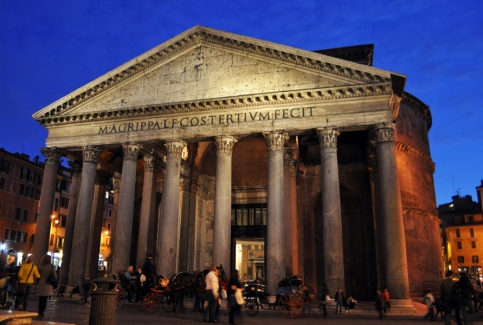 Dusk Falls Over The Pantheon