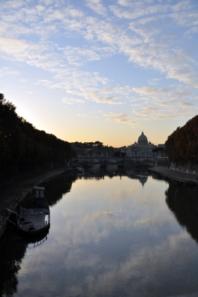 The Tiber and St Peter