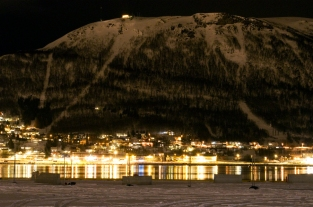 Mount Storsteinen By Night